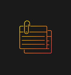 Index card gradient icon for dark theme vector