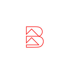 Initial letter b with arrow logo design vector