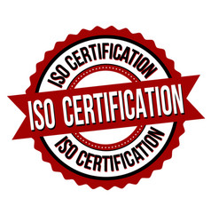 iso certification label or sticker vector image