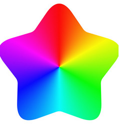 Isolated gradient rainbow star design vector image
