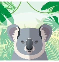 koala on jungle background vector image
