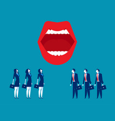 large mouth business people and mouth concept vector image