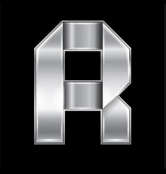 letter metal gold ribbon vector image