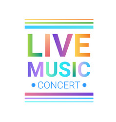 Live music concert banner colorful style modern vector