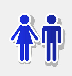 male and female sign new year bluish icon vector image