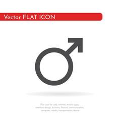 Mars symbol icon vector