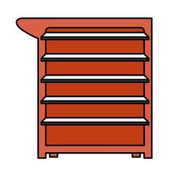 Mechanic tools drawer equipment icon vector