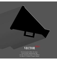 megaphone loud-hailer flat modern web button vector image