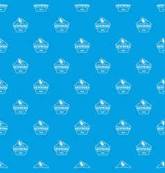 newborn pattern seamless blue vector image