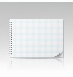 notepad blank 3d realistic notebook mockup vector image