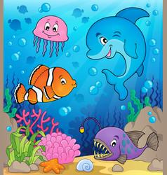 Ocean fauna topic image 1 vector