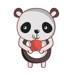 Panda and food vector