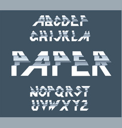 paper alphabet of paper folding vector image