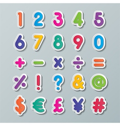 paper number and symbol vector image