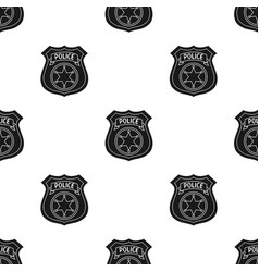 police officer badge icon in black style isolated vector image