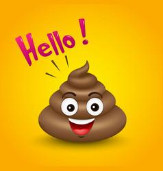 Poop logo icon emoji vector