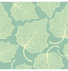 Poplar leaf skeleton pattern vector