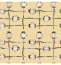 poppy seamless wallpaper vector image