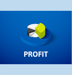 profit isometric icon isolated on color vector image