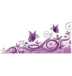 Purple border vector