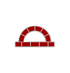 red brick furnace logo design inspiration vector image