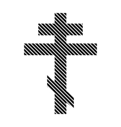 Religious orthodox cross sign vector image