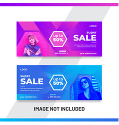 Sale banner template design for facebook cover vector