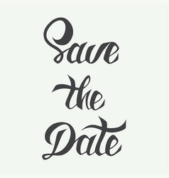 save date card template with hand drawn vector image