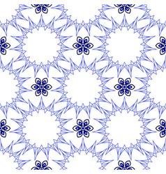 Seamless of blue fifteen angle stars and six petal vector