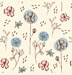 seamless pattern with floral morifs vector image