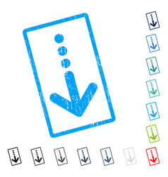 Send down icon rubber watermark vector