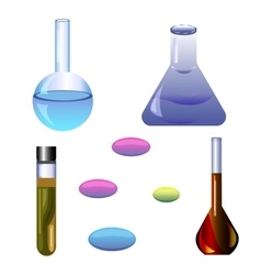 Set chemical ellements vector image