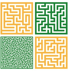 Set of colorful mazes Good for logo or icon vector