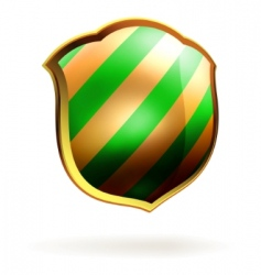 shields in black and green hazard stripes eps 8 vector image