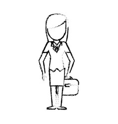 sketch female girl faceless image vector image