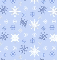 Snowflake seamless pattern blue background vector