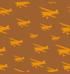 tile vintage biplanes vector image