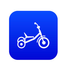 Tricycle icon digital blue vector