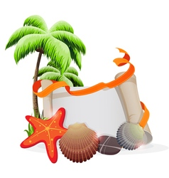 Tropical vacation concept vector image