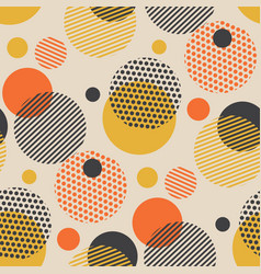 vintage scattered circle geometry seamless pattern vector image