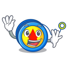 waving yoyo character cartoon style vector image
