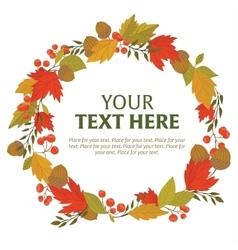 wreath autumn leaves vector image