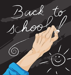 writing back to school vector image
