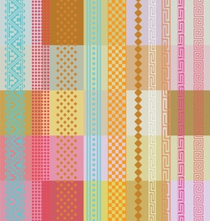 Color ornamental wallpaper vector image vector image
