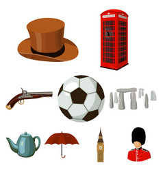 england country set icons in cartoon style big vector image vector image