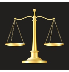 gold scales icon vector image