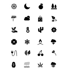 Nature and ecology icons 3 vector
