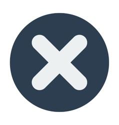 Single delete mark icon Flat design vector image vector image