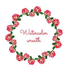 Watercolor wreath vector image vector image