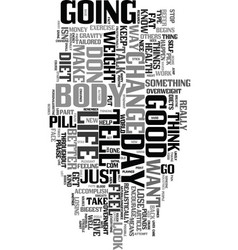 yes you can lose weight text word cloud concept vector image